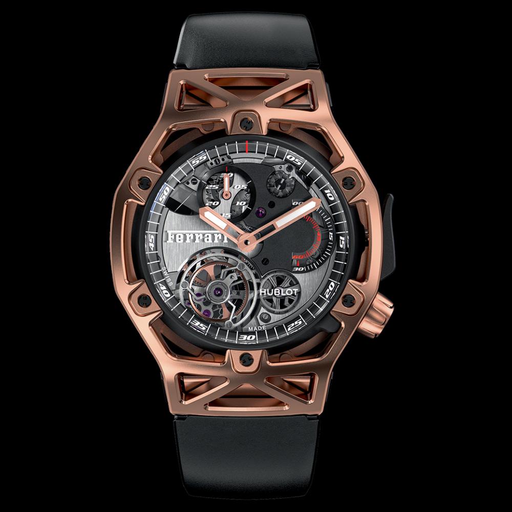 Omega Authorized Dealer >> Hublot Techframe Ferrari Tourbillon Chronograph 45mm 408 ...